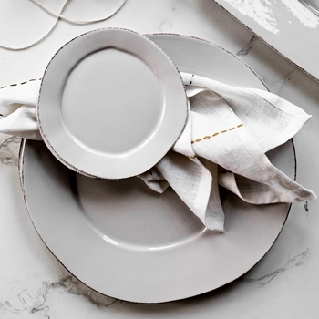 Vietri - Lastra Light Grey Plate Canape 6in