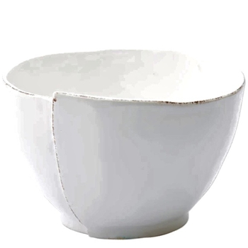 Vietri - Lastra White Bowl Deep Mixing & Serving  9x6in