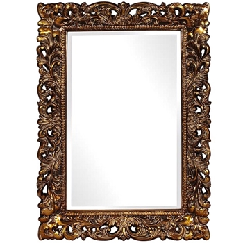 33W/45H Mirror - Barcelona Antiqued Gild Gold