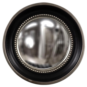 16W/16H Mirror - Patterson Convex Black & Pewter