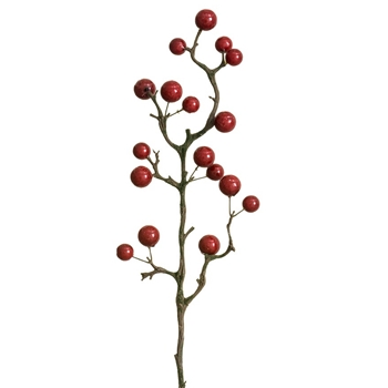 Berry - Branch Japonica Chinese Red 25in