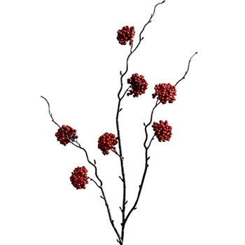 Berry - Branch Clusters 34in Ruby Red