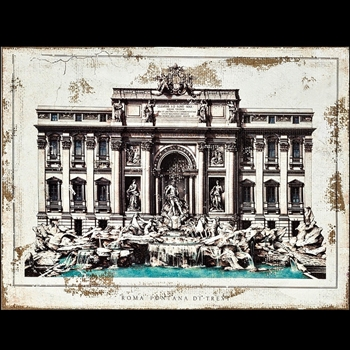 16W/12H Canvas Print - Trevi Fountain