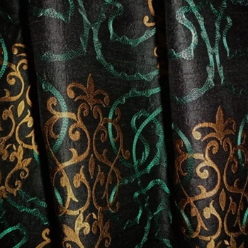 42. Black Silk Tuileries Teal /Terra