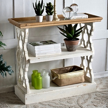 Console - Lattice White Washed 36W/14D/32H