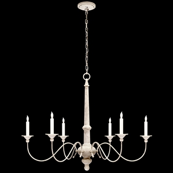 Chandelier - Country - Belgian White  37W/27H Studio by Visual Comfort