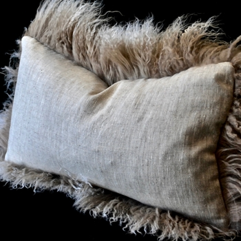 06. Tibet Flax Saint Germain Linen Cushion 24W/12H