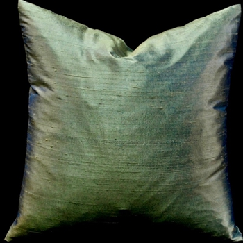 43. Dupioni Silk Cushion Verde 18SQ