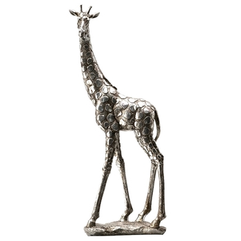 Figure - Giraffe  Silver 19IN