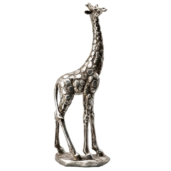 Figure - Giraffe  Silver 14IN