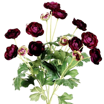 96. Ranunculus Bouquet 12 Bloom Purple 13in