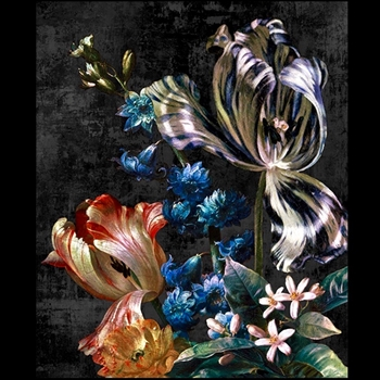 24W/29H Giclee - Dutch Garden Antique  #02 - Jackie Von Tobel