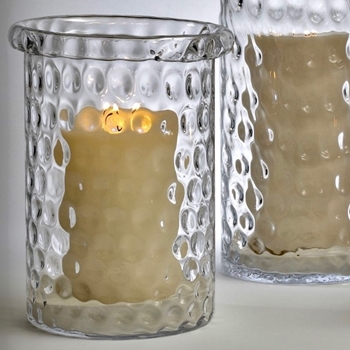 Vase - Honeycomb Clear LARGE 12W/16H