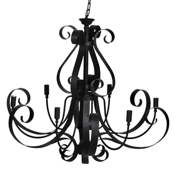 Chandelier - Black Ribbon XXL 6Light 40W/40H