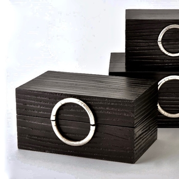Box - Artisan Ebony & Nickel MEDIUM 15W/9D/7H