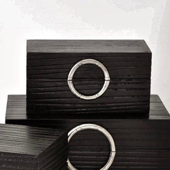 Box - Artisan Ebony & Nickel SMALL 12W/7D/6H