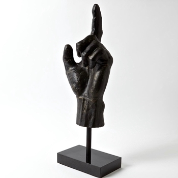 Figure - Hand UP Bronze 8W/25H