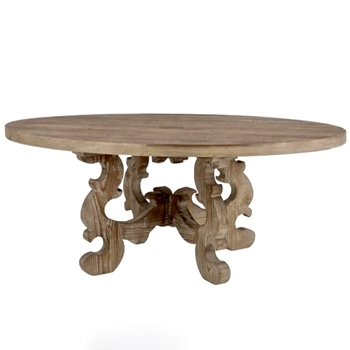 Coffee Table - Acanthus Pine Oval 47W/30D/19H
