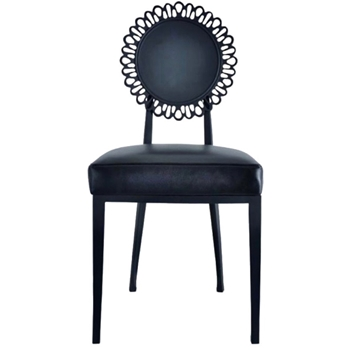 Dining Chair - Armless Dandelion Outdoor Black 18W/20D/38H - Oly Studio