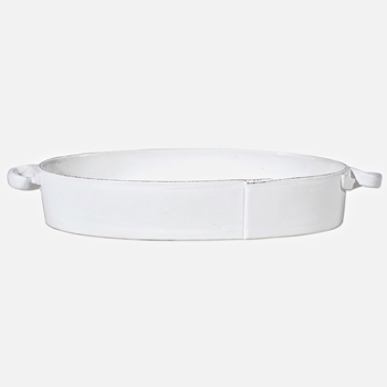 Vietri - Lastra White Baker Oval Large 16x6x3in
