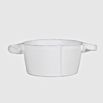 Vietri - Lastra White Bowl Small Handled 5x2.5H