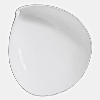 Vietri - Lastra White Bowl Oval Petal Serving 13x12x4H