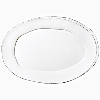 Vietri - Lastra White Platter Large Oval 19x12in