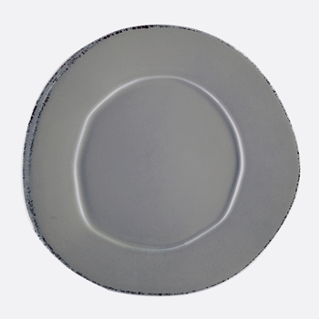Vietri - Lastra Grey Plate 12in XL Dinner/Charger