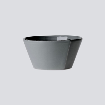 Vietri - Lastra Grey Bowl Stacking 6x3