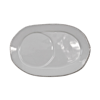Vietri - Lastra Light Grey Jumbo Mug Oval Tray 10in