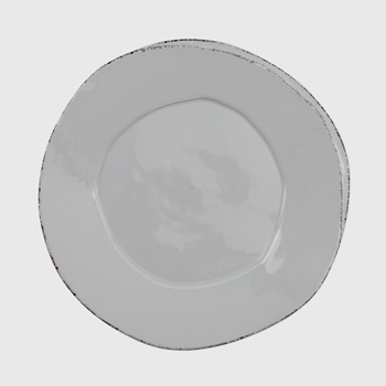 Vietri - Lastra Light Grey Plate Dinner 10in