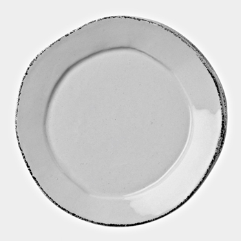 Vietri - Lastra Light Grey Plate Dinner/Charger 12in