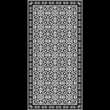 Adama - Pinta Black 47x24 Vinyl Carpet