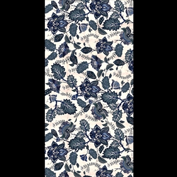 Adama - Jacobean Blue 47x24 Vinyl Carpet