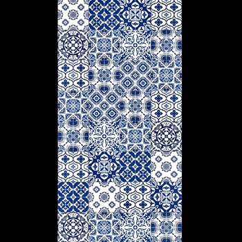Adama - Morning Azure 47x24 Vinyl Carpet