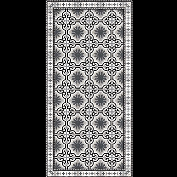 Adama - Dream Black White 47x24 Vinyl Carpet