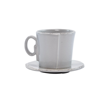 Vietri - Lastra Light Grey Espresso Cup & Saucer 3in