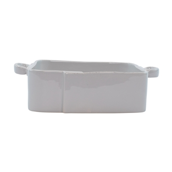 Vietri - Lastra Light Grey Baker Large Square Handled 11x8.5x3H
