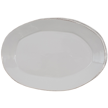 Vietri - Lastra Light Grey Plater Oval Large 19x12in
