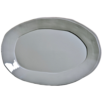 Vietri - Lastra Grey Plater Oval Large 19x12in