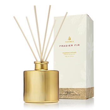 Thymes - Frasier Fir Diffuser Petite Gold 4OZ