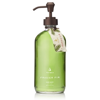 Thymes - Frasier Fir Essential Hand Wash Large Glass Pump 15OZ
