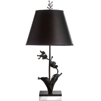 Lamp Table Aram Black Orchid 12W/27H