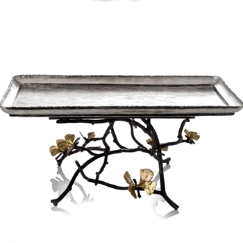 Aram Butterfly Ginkgo Centrepiece Tray Large 18W/12D/8H