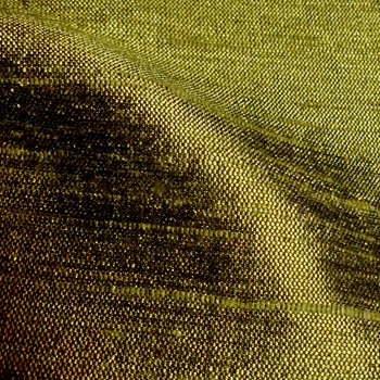 Dupioni Silk - Olive Loden - 54in, 100% Hand Loomed Silk - India - Dry Clean Only, Do not expose to sunlight.