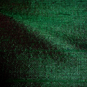 Dupioni Silk - Eden Emerald - 54in, 100% Hand Loomed Silk - India - Dry Clean Only, Do not expose to sunlight.