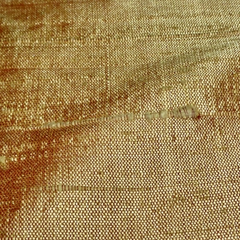 Dupioni Silk - Wheat Gold - 54in, 100% Hand Loomed Silk - India - Dry Clean Only, Do not expose to sunlight.