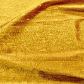 Dupioni Silk - Yellow Gold - 54in, 100% Hand Loomed Silk - India - Dry Clean Only, Do not expose to sunlight.