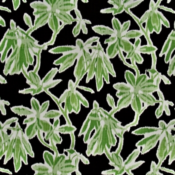 Print - Hello Hidcote Nightfall Lime/Black - ROBERT ALLEN @ HOME, Madcap Cottage, 54IN Wide, 27x27in pattern repeat. 100% cotton. 65K DR