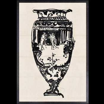 15W/21H Framed Art - Cheret Vase II Small